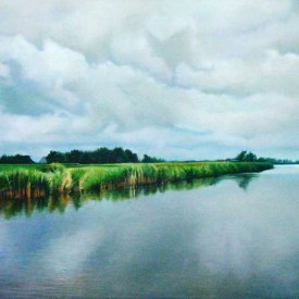 Het stille water, oil on canvas, 100x70cm