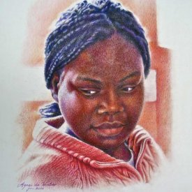 Khezinet, colour pencil
